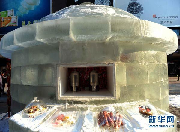 Ice restaurant opens in China