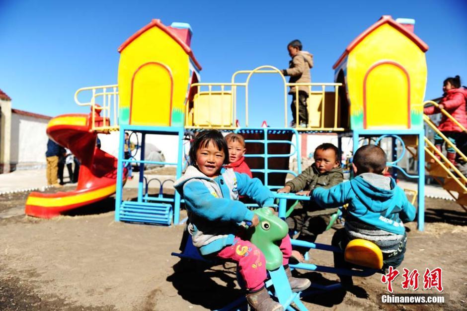 甘肃藏区的免费牧民幼儿园