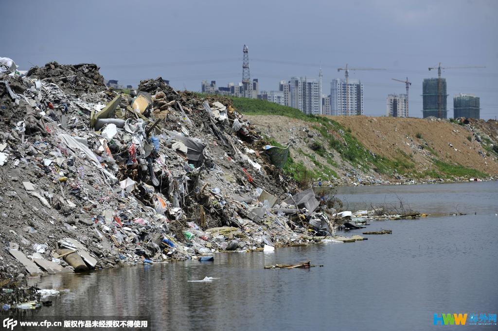 合肥一森林公园变身垃圾填埋场