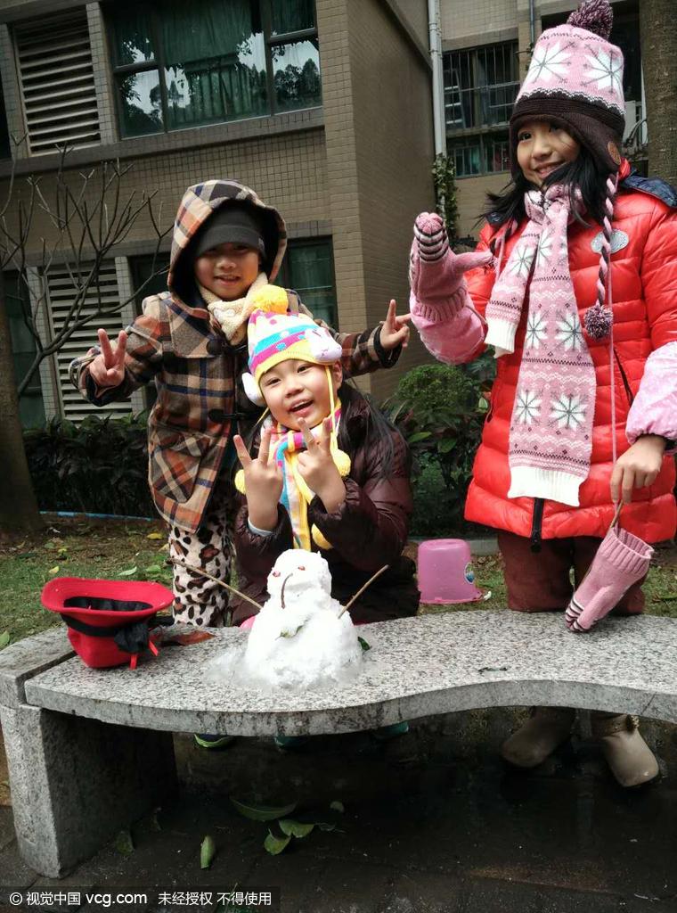 16年1月24日,广东省广州市,广州番禺区午后突然下起了鹅毛高清图片
