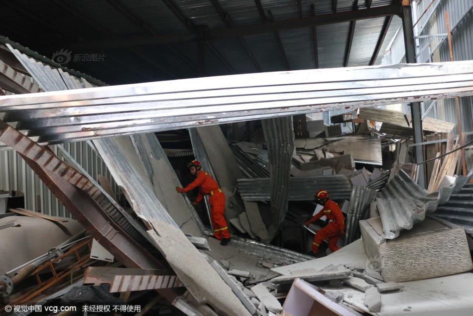 厦门一在建钢结构建筑发生坍塌