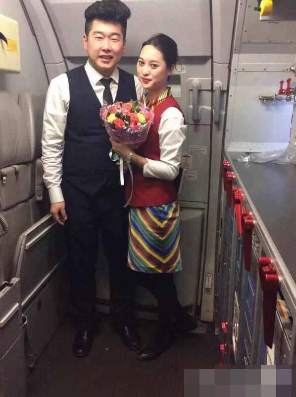 西藏航空一乘务员飞机上求婚