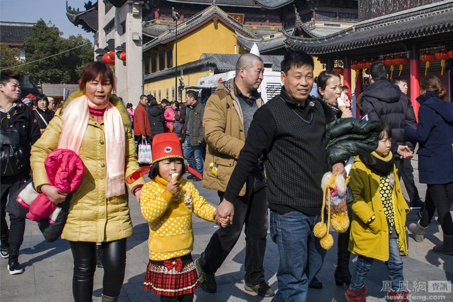 一家人到南禅寺逛街
