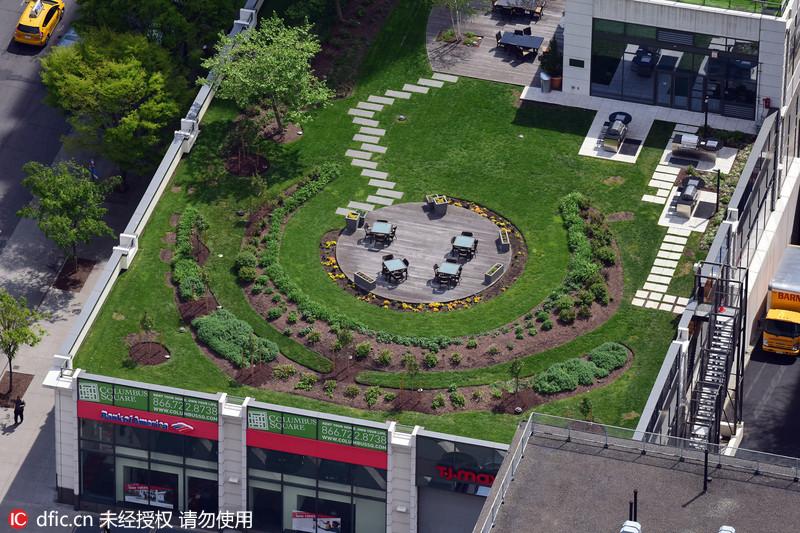 纽约民众高楼顶建造迷你空中花园[2]- 中国日报网