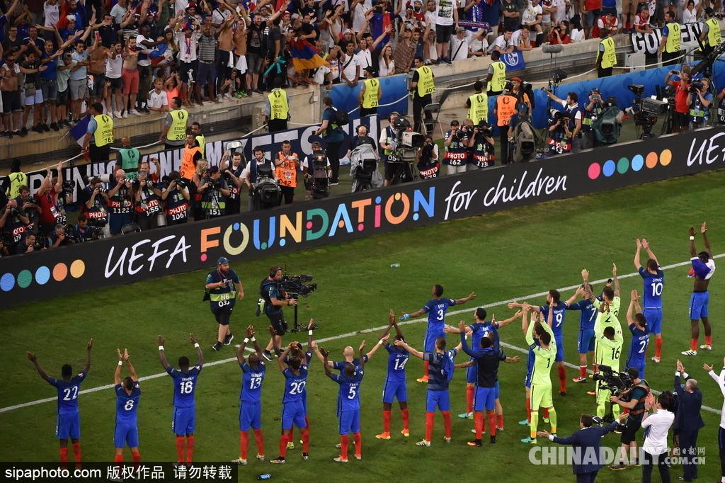 2016欧洲杯半决赛:法国挺进决赛现冰岛式庆祝
