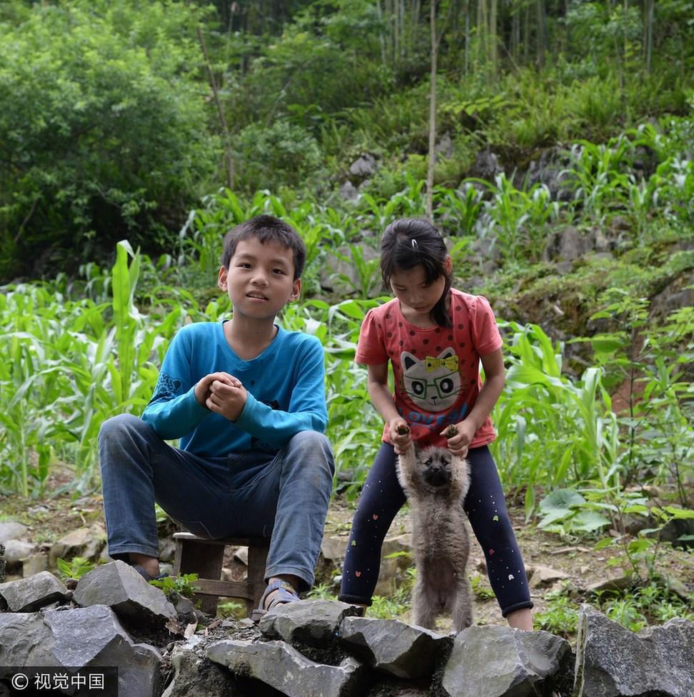 广西都安:实拍大山里的v儿童儿童这表情包呢刀图片