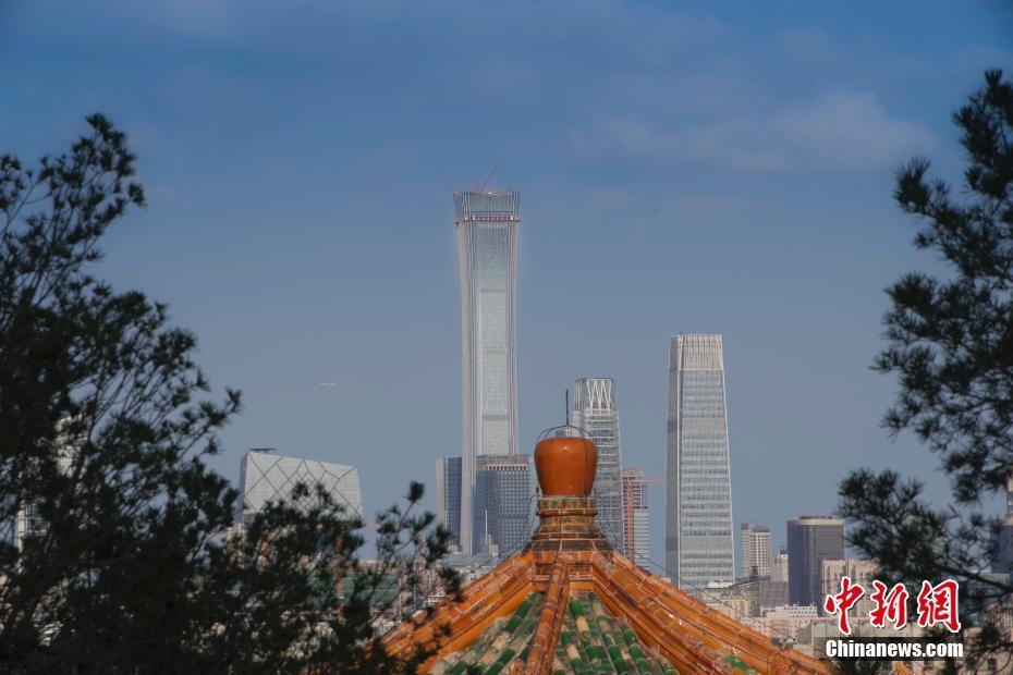 台风过境北京后 再现蓝天白云
